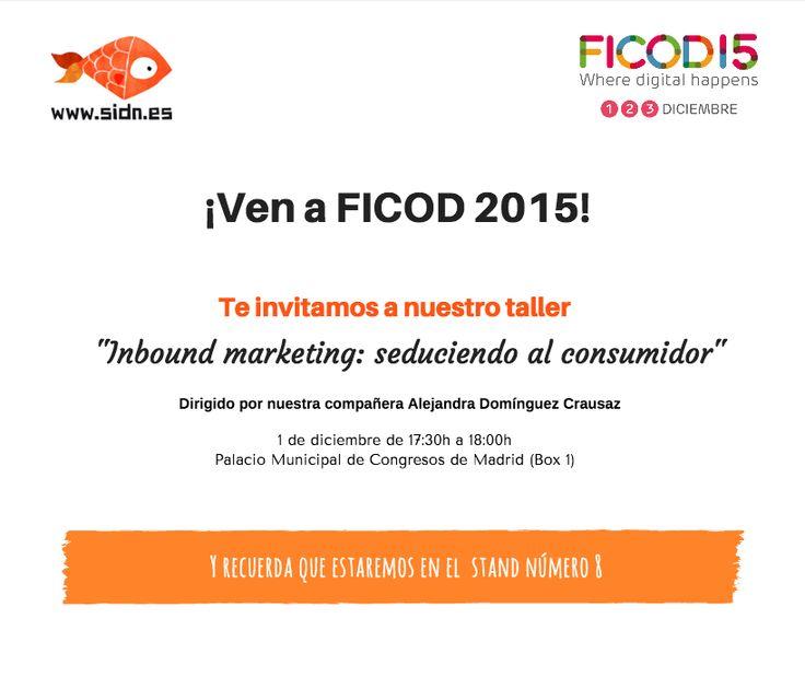 ¡Te invitamos a nuestro taller en #FICOD15!  Consigue aquí tu acreditación  http://bit.ly/1jfCqwv