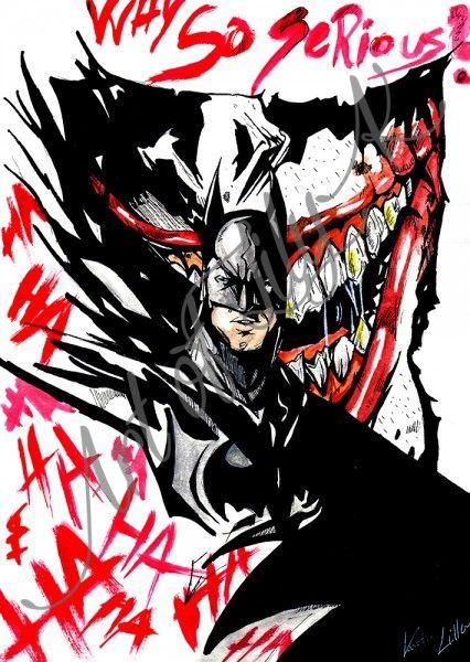Batman And Joker traditional Comic Book Style