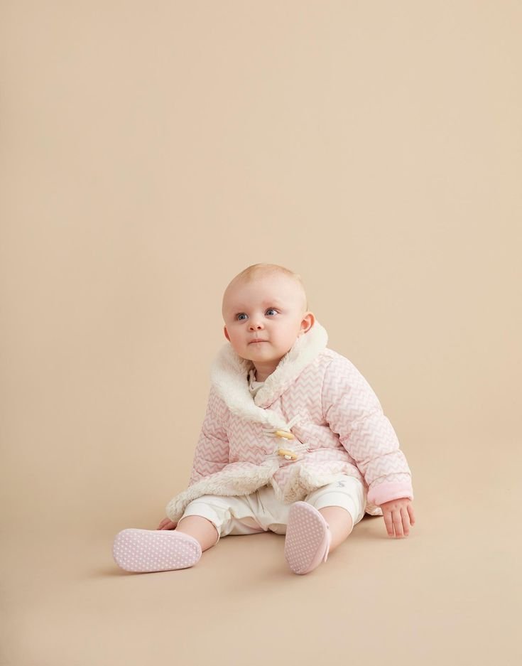 Fleecey Rose Pink Zig Zag Fleece Lined Coat  | Joules UK
