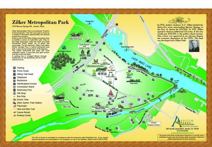 Zilker Metropolitan Park Map