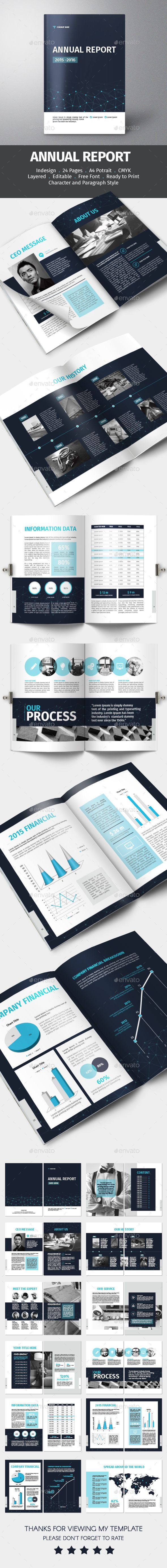 Annual Report Template INDD, Vector. Download here…