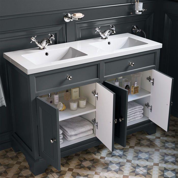 double basin vanity unit