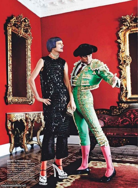 Stella Tennant in 'El Dorado' - Photographed by Mario Testino (Vogue US September 2012)    Complete shoot after the click...