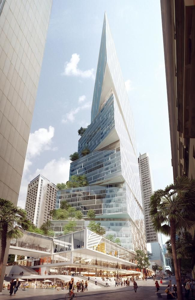Danish architect set to remodel one of Sydney skyline's ugly ducklings. Artists drawings of the Quay Quarter, Sydney, Australia. Due to open in 2020, the Quay Quarter tower will be the same height as the current building but have 49 floors and 90,000 square metres of floor space.