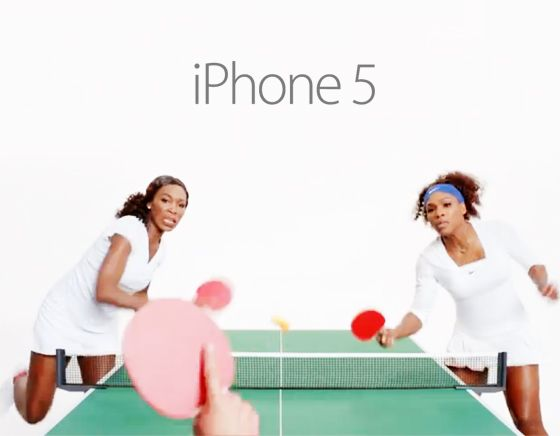 The famous sisters, Venus and Serena Williams for the iPhone 5.