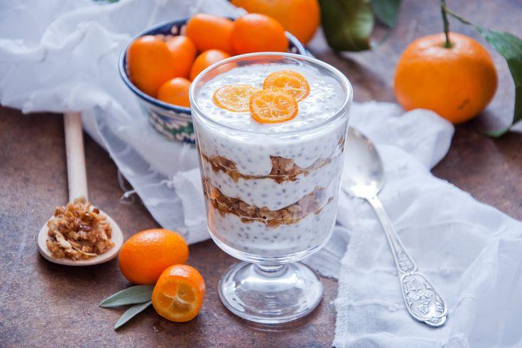 pomarančový chia puding recept