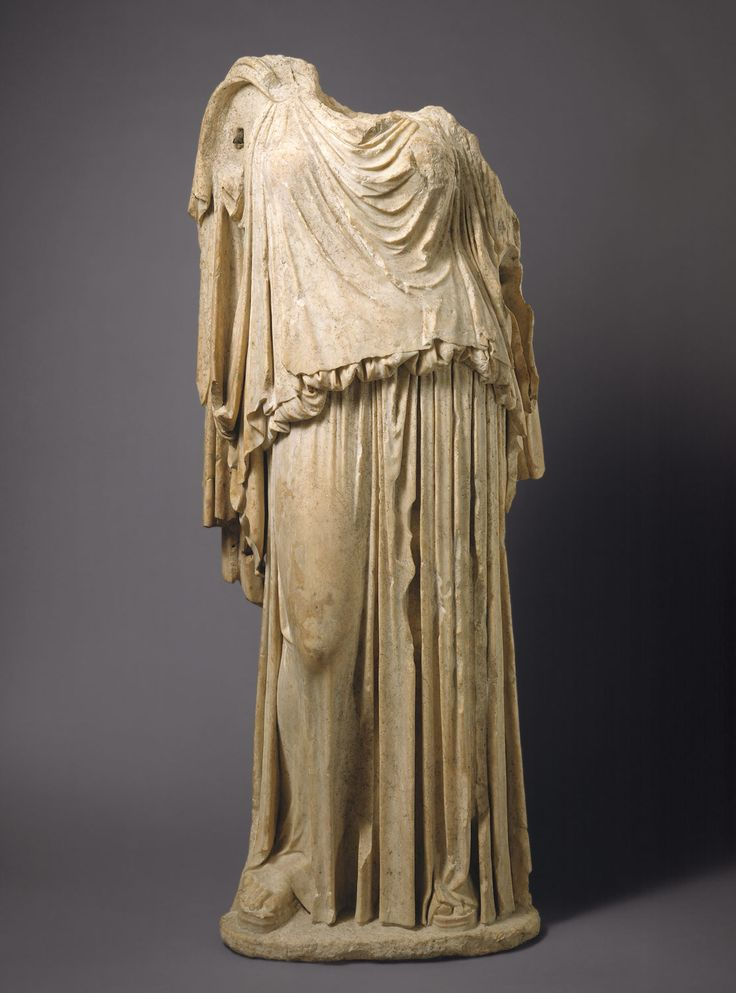 Marble statue of Eirene (the personification of peace ...