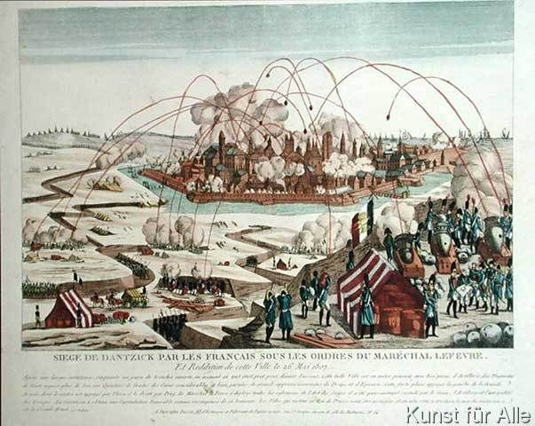 French+School+-+The+Siege+of+Danzig+under+the+command+of+Marshal+Pierre+Joseph+Lefebvre+(1755-1820)+and+the+Surrender+of+the+Town,+26th+May+1807