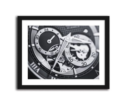 Tarcza zegara, obrazki w ramie