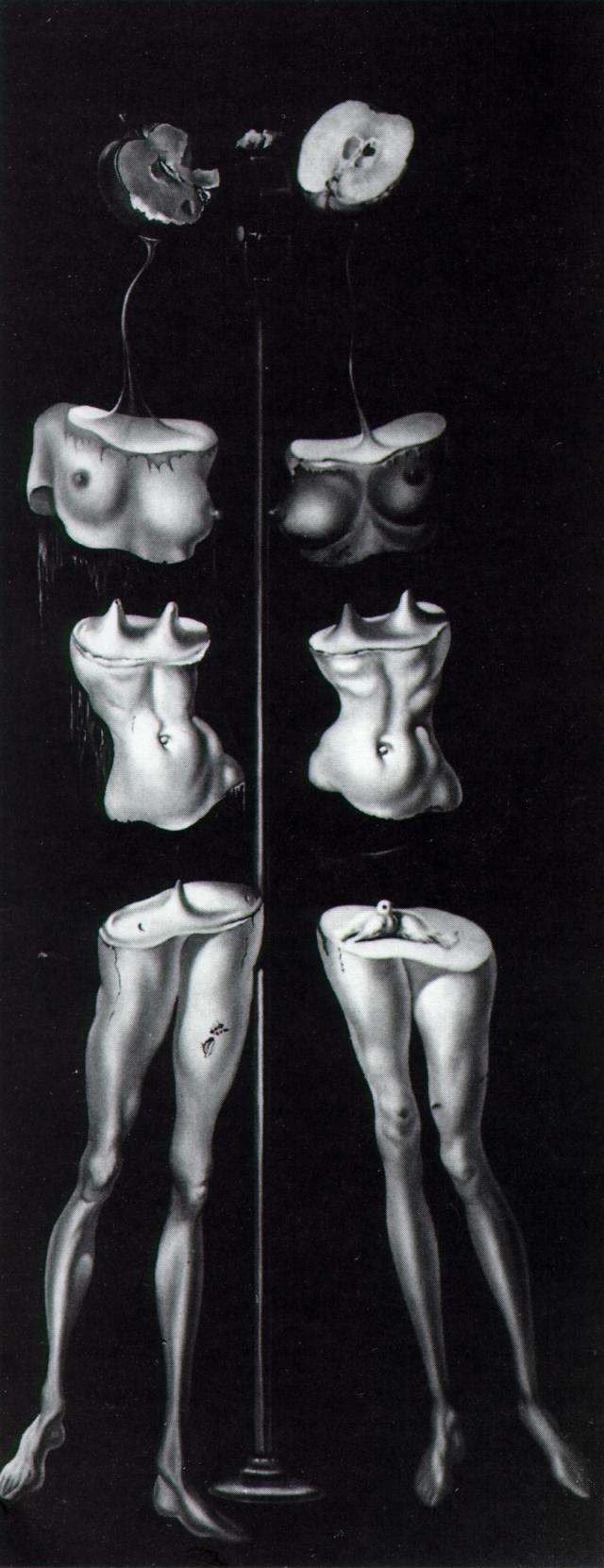 ~ Untitled - Set Design (Figures Cut in Three), by Salvador Dali - 1942 - Surrealism ~