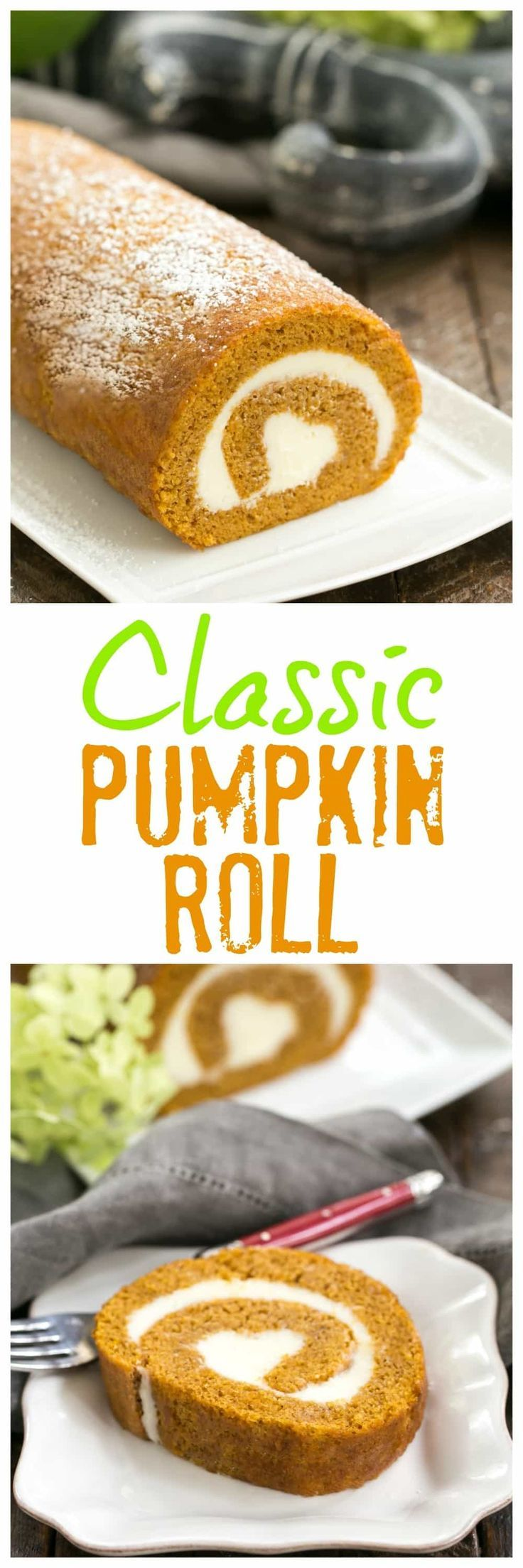 Old Fashioned Pumpkin Roll | With a cream cheese filling, this classic fall treat always gets rave reviews! #pumpkin #cakeroll
