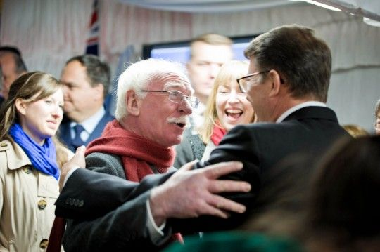Ambassador John Berry mingles with the Embassy's 2014 Independence Day guests #July4CBR