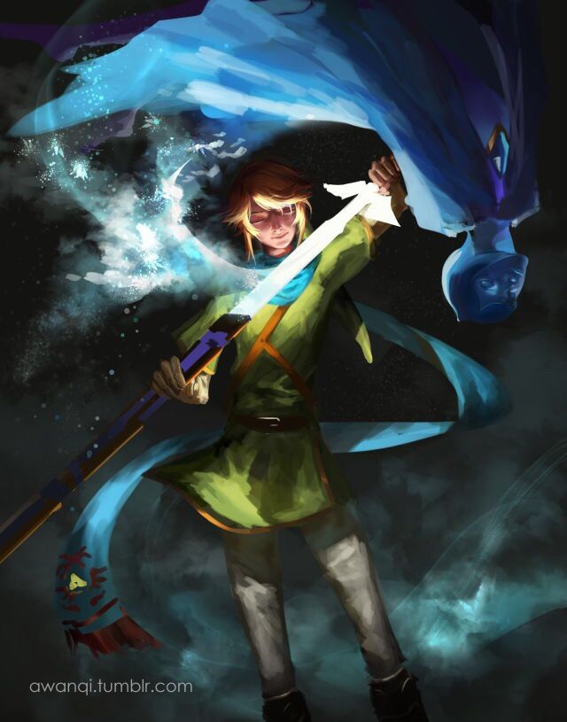 The Legend of Zelda: Skyward Sword - Link and Fi by awanqi ...