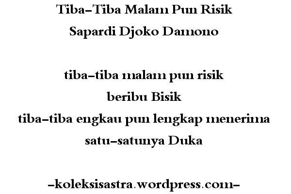 Tiba-Tiba Malam Pun Risik