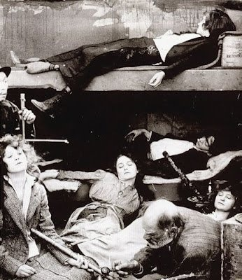 Opium Den.  Before opiates were criminalized.  You think it's bad here?  You should have seen China.