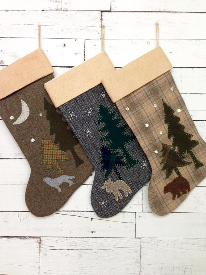 Woodland Moose Christmas Stocking Penny Christmas, Christmas