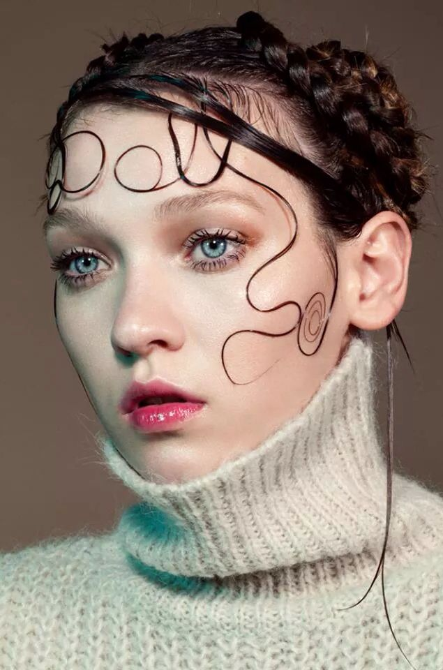 "W I love how her hair spells ""doll."""