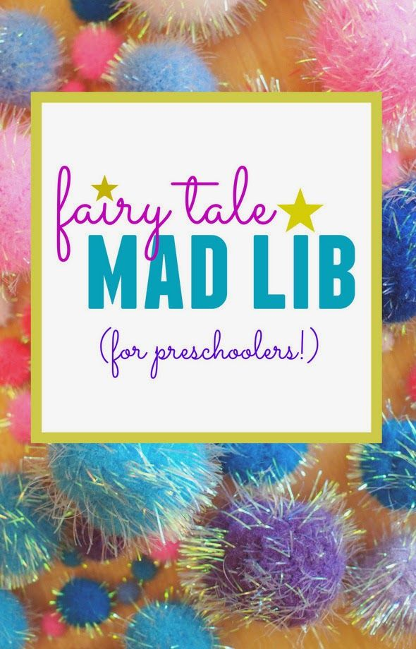 Here's a fun preschool activity- try filling out this fairy tale mad lib-style activity with your child to create a unique storytelling experience