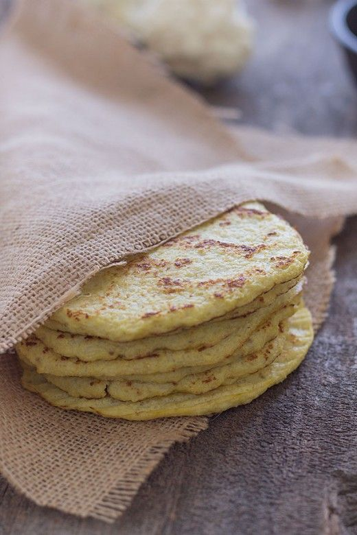 Whole30: Cauliflower Tortillas. I tried these and they are simply amazing! I also added 1/2 tsp of baking powder and put them in the oven as a thick rectangle (cut into squares after cooking) for cauliflower dumplings!