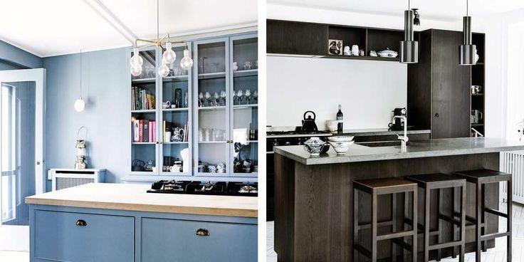 KJØKKENINSPIRASJON: Liker du blått og klassisk eller mørkt og stramt? La deg inspirere av disse lekre kjøkkenene.