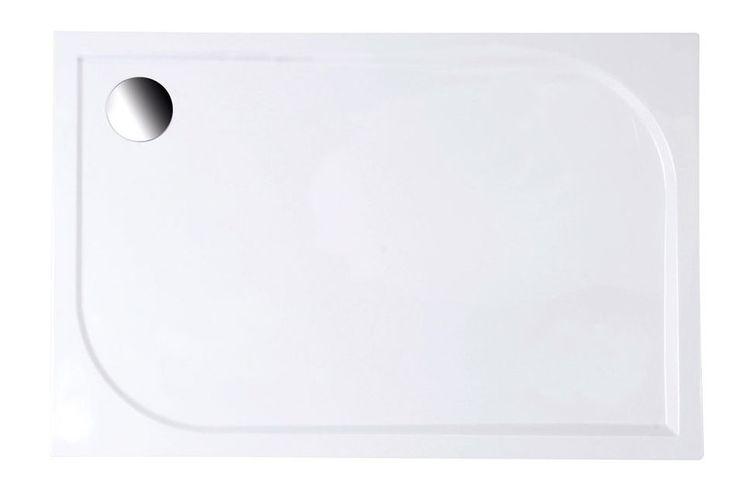 Aqualine Galet LQ12080 aszimmetrikus öntött márvány zuhanytálca 120x80