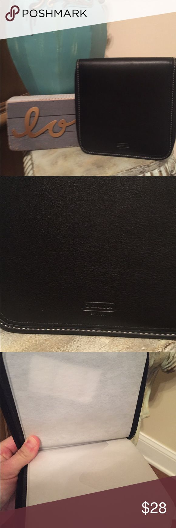Authentic Coach Black Leather CD Holder Authentic Coach Black Leather CD Case. New with tags! Great gift or to use in your vehicle. Coach Accessories