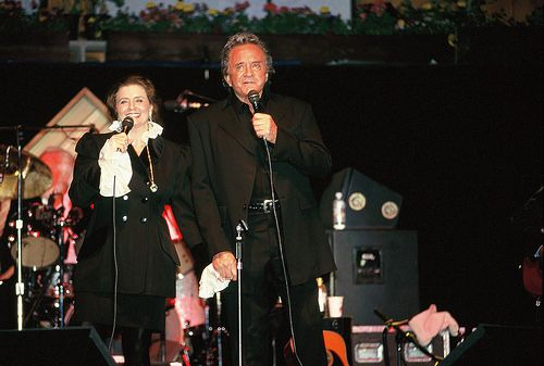 Johnny and June Carter Cash at Telluride in 1997.