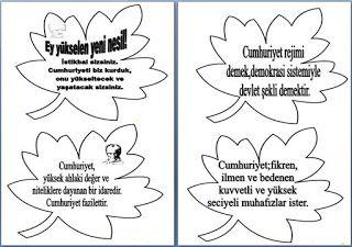 29 Ekim Panosu Atatürk Özdeyişleri
