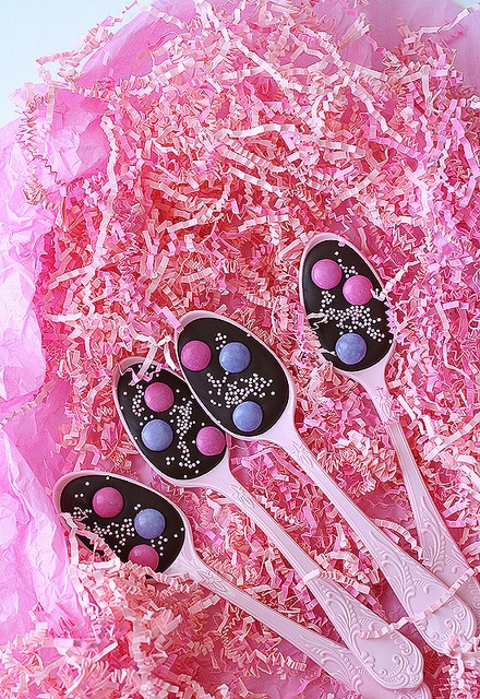 more cute chocolate spoons