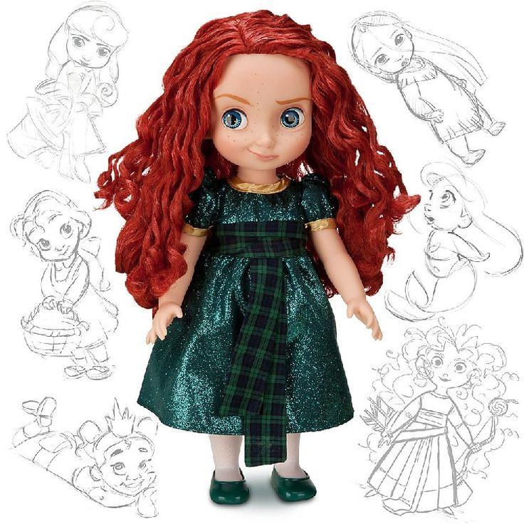 Кукла Мерида серии «Моя первая принцесса Диснея». Большая пластиковая игровая кукла ростом 40,8 см (16 дюймов). Отличная качественная игровая кукла для девочек. Волосы у куклы прошитые, всё качественно (официальный Дисней), сами куклы полностью пластиковые. Появились на рынке во 2-й половине 2011 года. Куклы созданы для собственного фирменного магазина Disney. Внешне куклы этой серии очень милые, смешные и забавные.