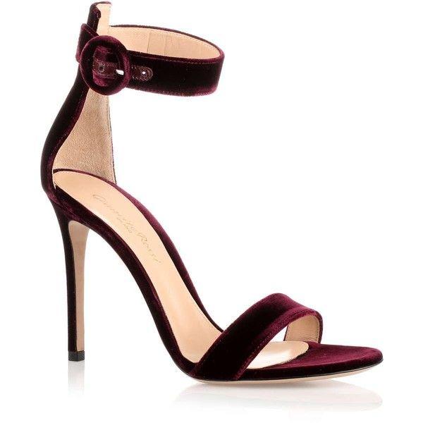 gianvito burgundy velvet portofino sandal 163 510