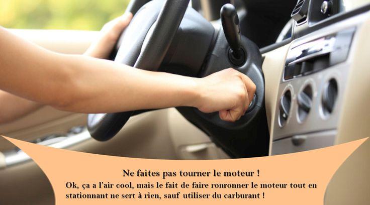 Utilisez l'arrêt / démarrage du moteur De nombreuses voitures modernes sont équipées d'une technologie de démarrage du moteur qui peut être géniale si vous l'utilisez fonctionner correctement. Asseyez-vous avec votre pied sur l'embrayage et le moteur continuera à brûler du carburant ; Retirez votre pied et vous économiserez de l'argent et du carburant. #pneusete