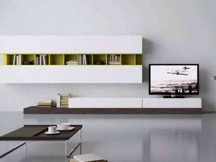 Sectional wall-mounted storage wall Contemporary style storage wall Blog Collection by Battistella