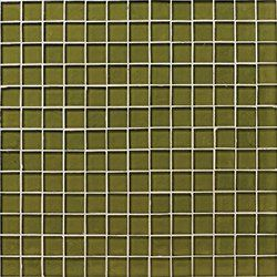 "Oceanside Glasstile...Collection Name: Muse...Color Name: Olive Non-Iridescent 138...Item Description: 7/8 x 7/8 Field...Square Feet Per Sheet: 1.02...Sheet Size: 12 1/8"" x 12 1/8""...Thickness: .25""...Sample Item Number: 73015"