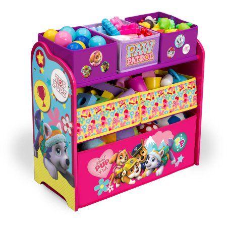 Delta Children Nick Jr PAW Patrol Skye and Everest Multi-Bin Toy Organizer, Multicolor