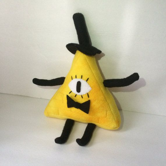 Gravity Falls Inspired Bill Cipher Plush by OneArtisticInfinity