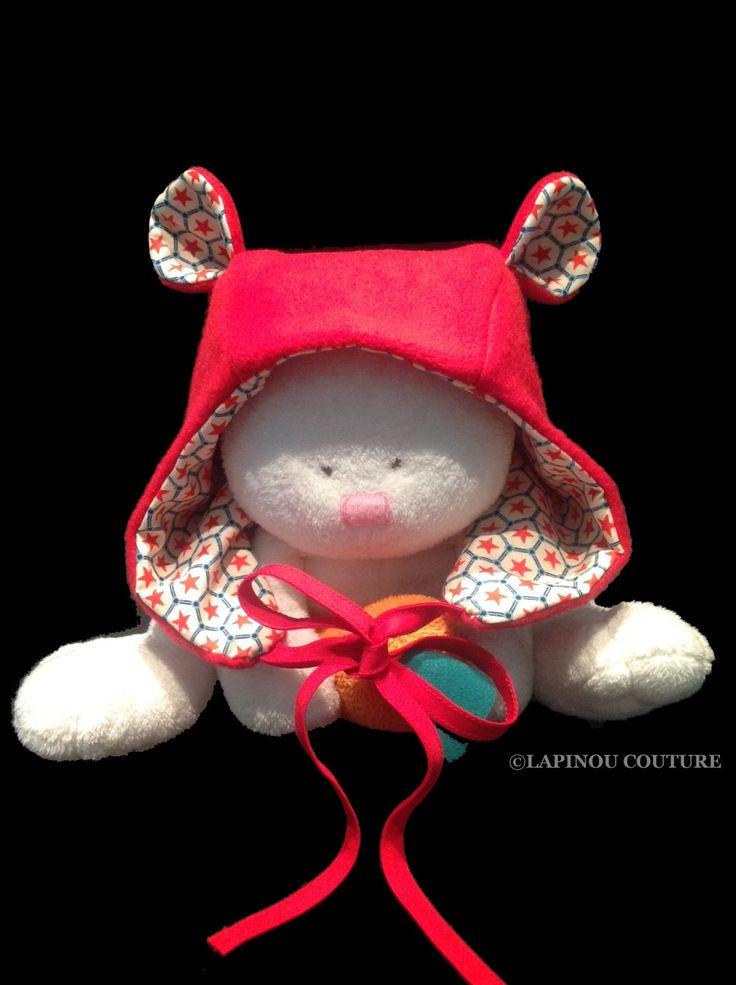Bonnet à oreilles pour les petits, Béguin à oreilles : Mode Bébé par lapinou-couture