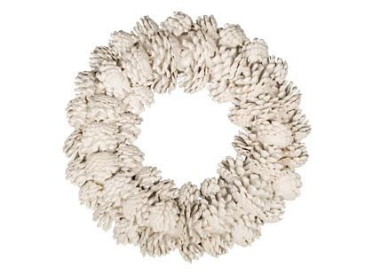 Spraypaint pinecones white & attach to a grapevine wreath for a rustic, Maine-inspired home accent. Find your perfect wreath here:  http://ow.ly/9FSQZ: Holiday, Pinecone Crafts, Diy White, White Pinecone, Pinecone Wreaths, Pinecones White