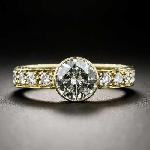 Lang Antique    .91 Carat Estate Engagement Band Ring