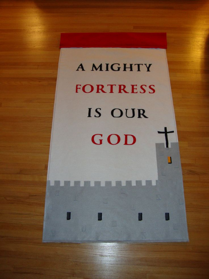 I created this banner for Reformation Sunday, but it is good for any time of the year.