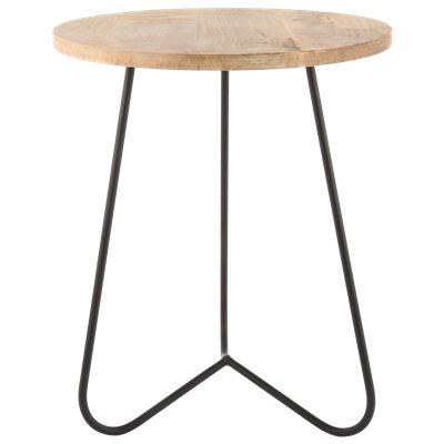 Krukje Ferro 29163 zwart met hout #Casabella #Kruk #Furniture #Wonen