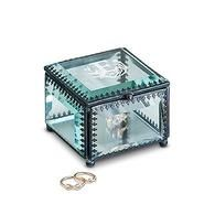 Vintage Inspired Glass Jewellery Box - Modern Fairy Tale Monogram Etching