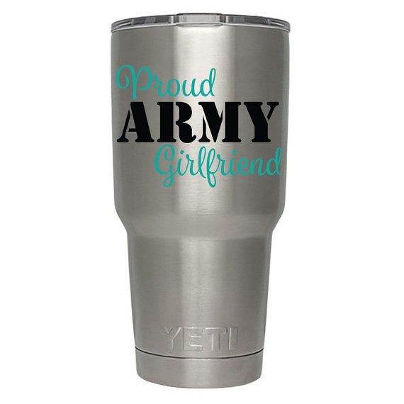 Proud Army Girlfriend Decal ONLY