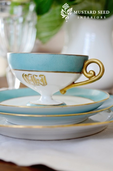 beautiful monogrammed china