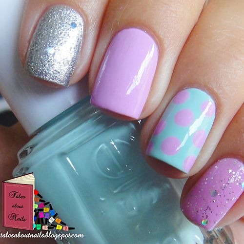 Sully from Monsters Inc Inspired Nail Design
