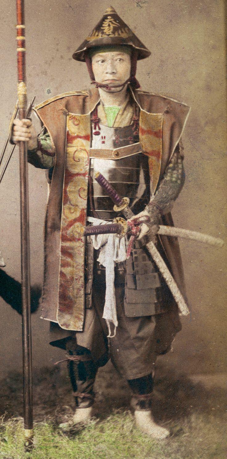 Samurai Wearing A Jingasa And Jinbaori