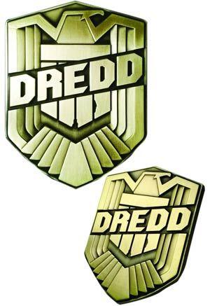 #Dredd Movie Badge 1/1 Metal Prop Replica - Midtown Comics