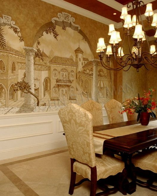 158 best tuscany images on pinterest mural painting for Tuscan dining room wall art