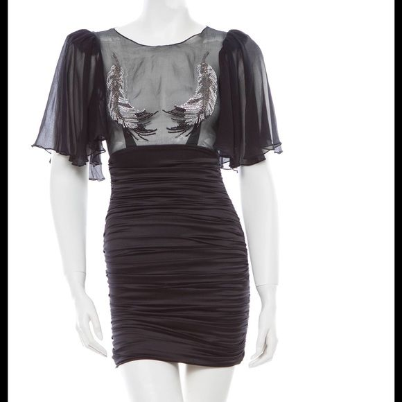 Thomas Wylde crystal dress Crystals, silk, and absolute glamour ✨like new. Retails for $2500 + voted best cocktail dress in numerous magazines and sold out in stores Thomas Wylde  Dresses Mini