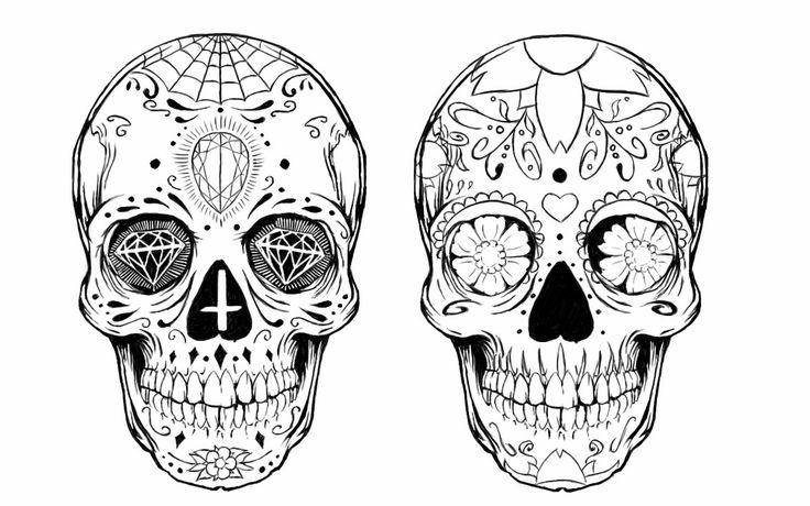 skull drawing - Google zoeken